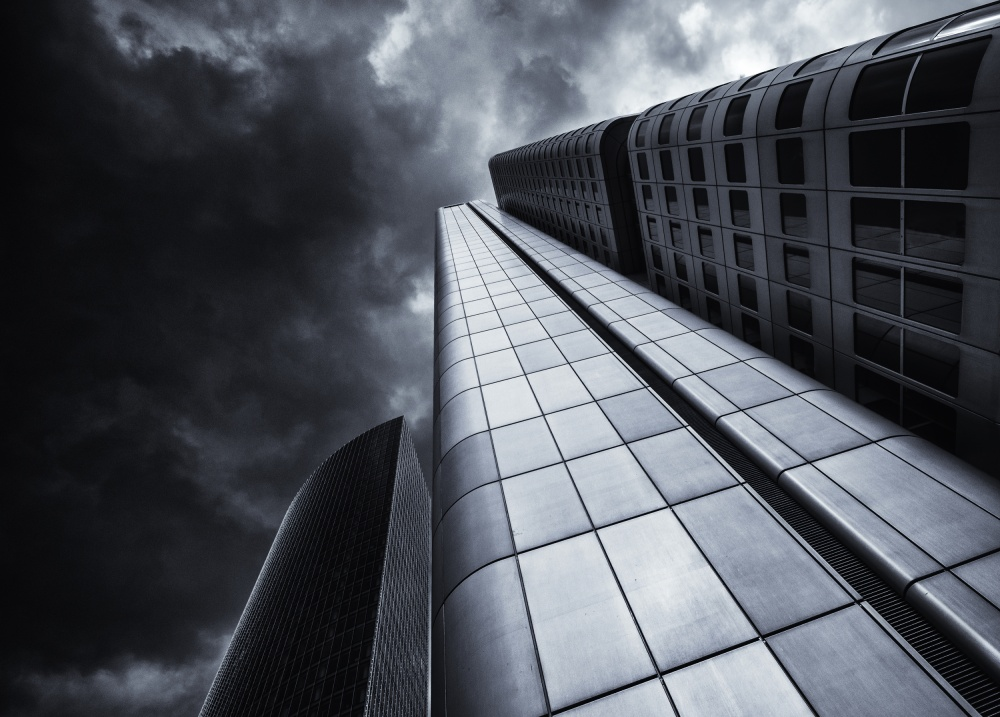 A piece of fine art art photography titled The Silver Tower by Gerard Jonkman