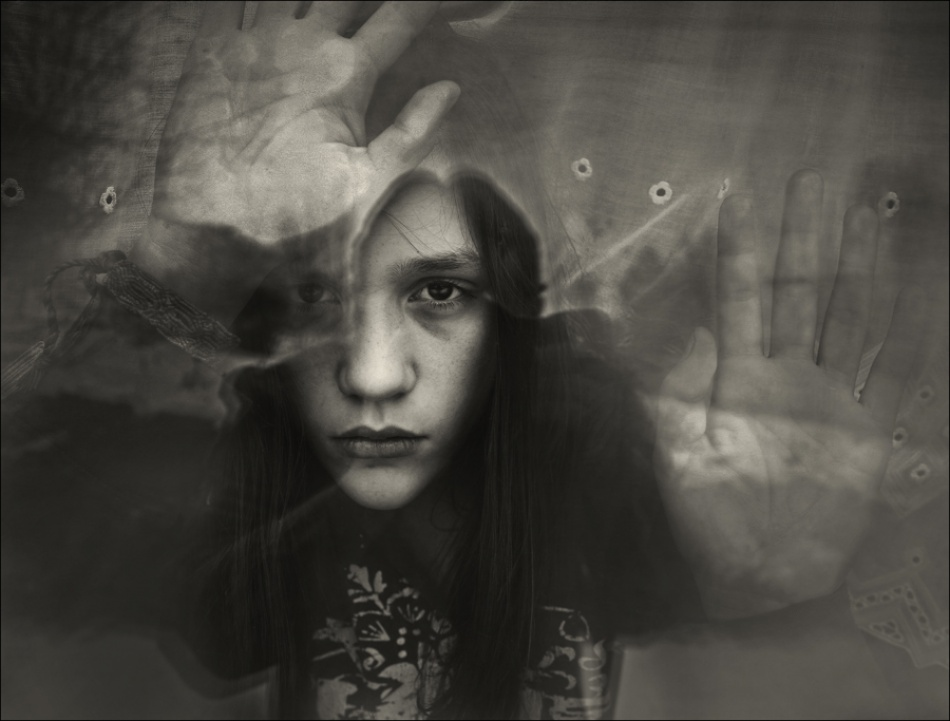 A piece of fine art art photography titled My Daughter and I by Raphael Guarino