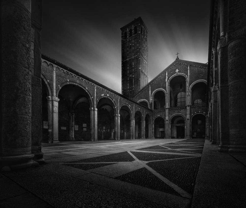 A piece of fine art art photography titled Pillars of History II by Fred Gramoso