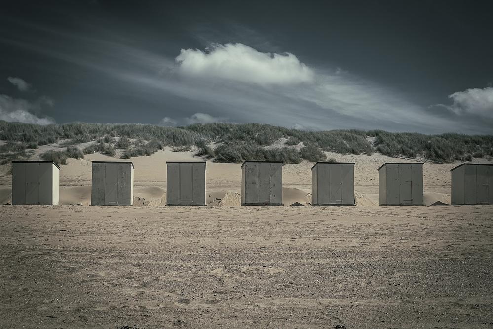 A piece of fine art art photography titled Lined Up by Bernardine de Laat