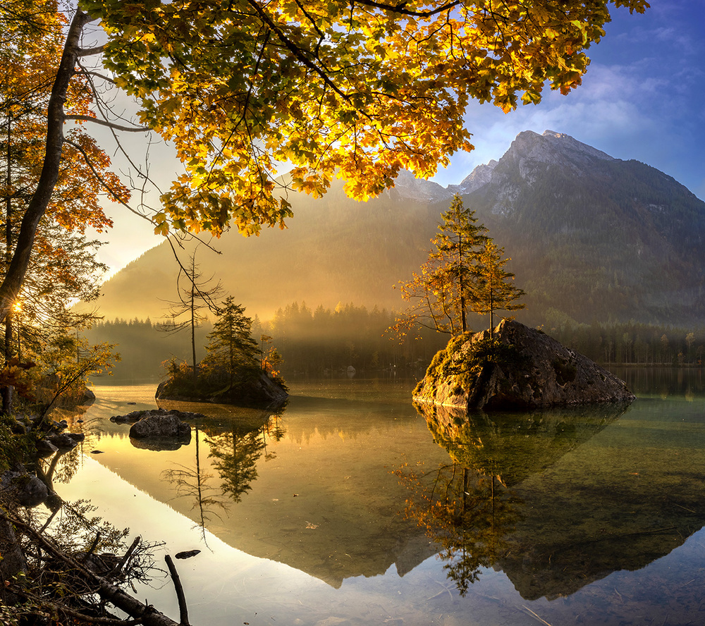 A piece of fine art art photography titled Lake Hintersee by keller