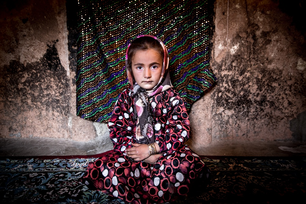 A piece of fine art art photography titled Bakhtiary Girl by Usef Bagheri