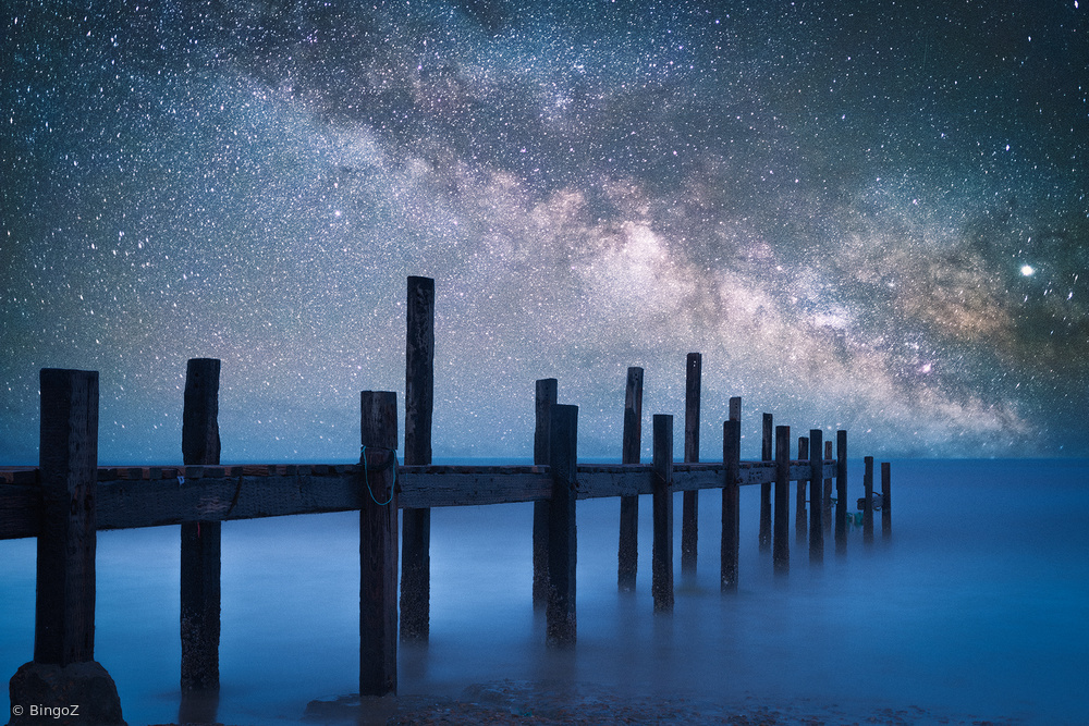 View this piece of fine art photography titled A starry night by Bingo Z