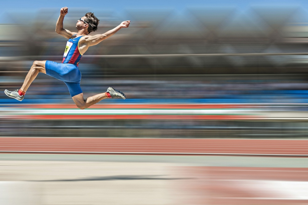 A piece of fine art art photography titled Jump by Pedro Luis  Ajuriaguerra