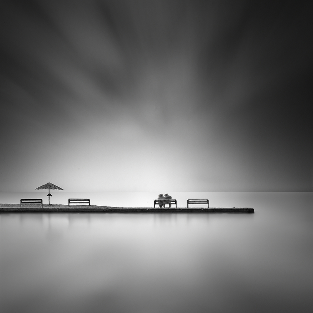 A piece of fine art art photography titled Waiting for the Morning Light by George Digalakis