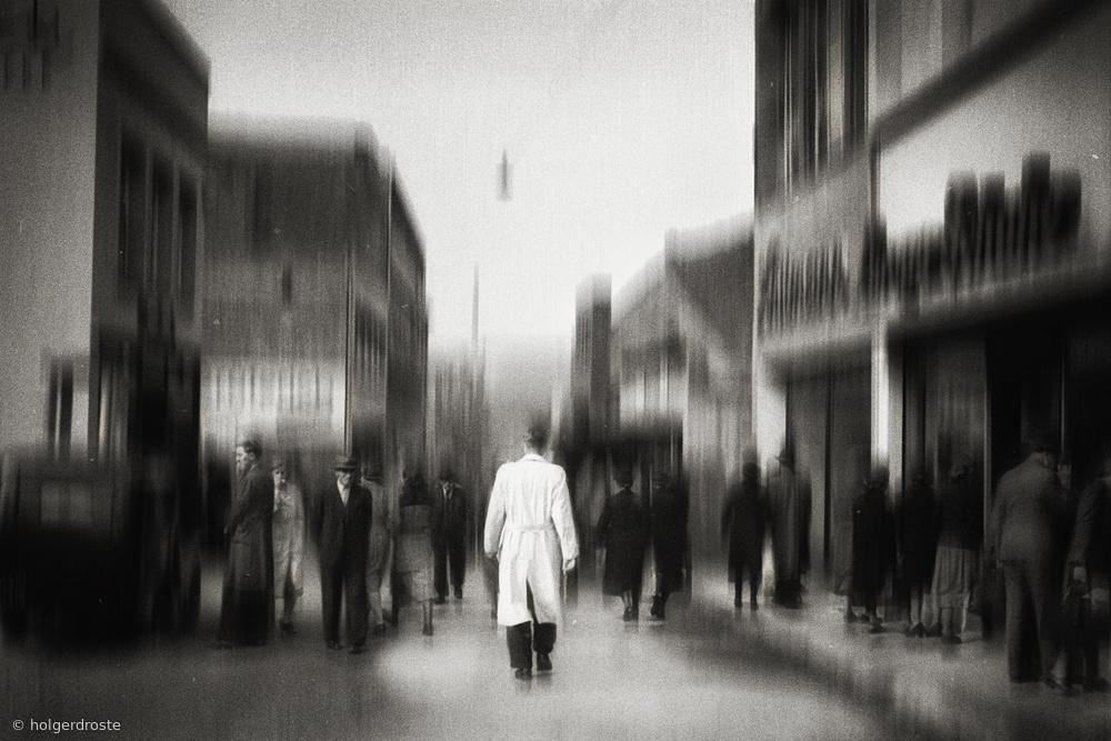 Man in white coat