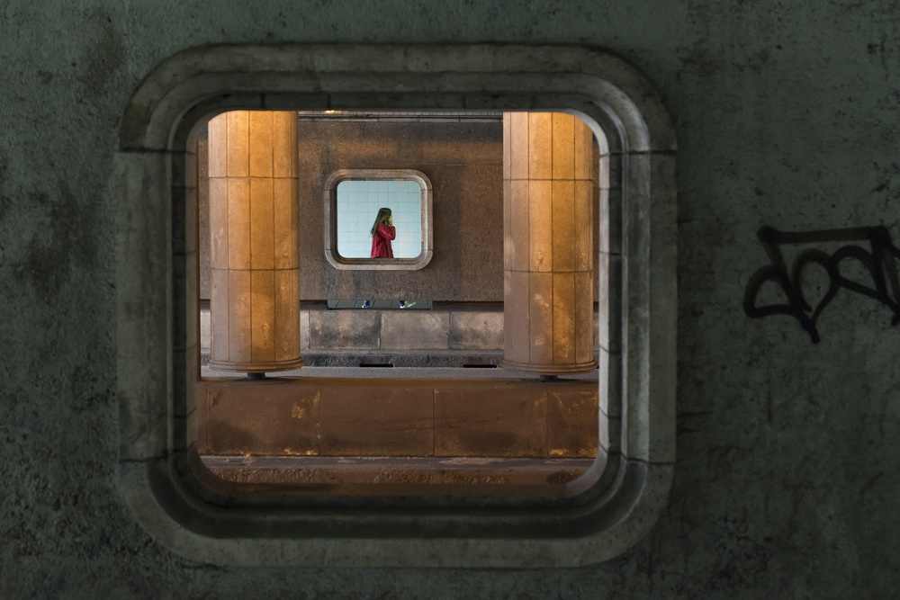 A piece of fine art art photography titled Passing By by Greetje van Son