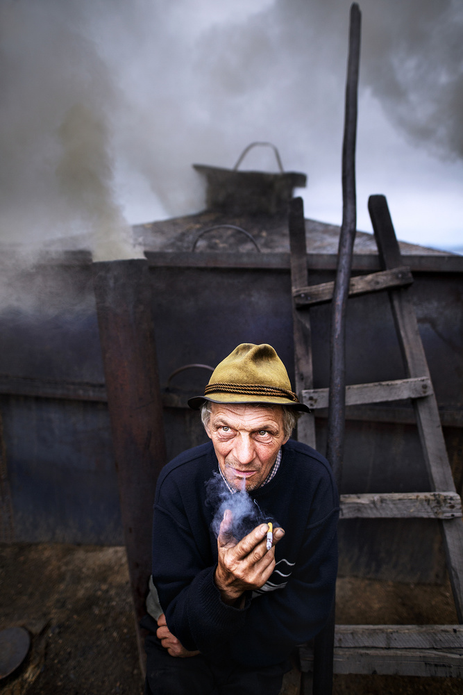 A piece of fine art art photography titled The Charcoal Master by Sorin Onisor
