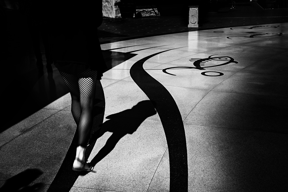 A piece of fine art art photography titled Walk the Line by Ina Tänzer