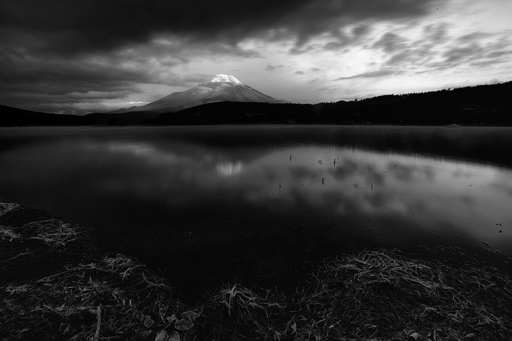 A piece of fine art art photography titled Fuji Morning by swapnil.