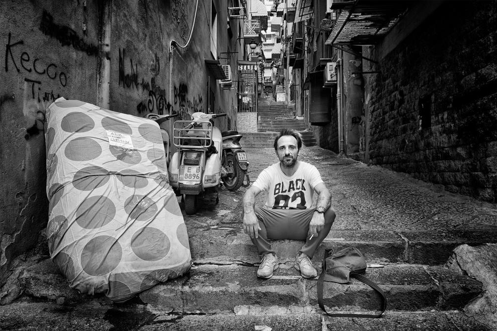 A piece of fine art art photography titled Napoli, Quartieri Spagnoli - Gaetano by Vito Guarino