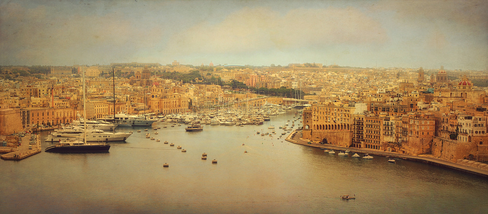 A piece of fine art art photography titled View from Upper Barakka, Valletta, Malta by Ellen van Deelen