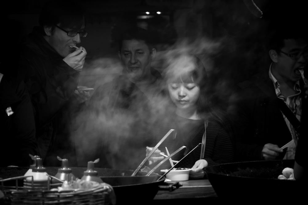 A piece of fine art art photography titled Street Bar by Adam Sandurski