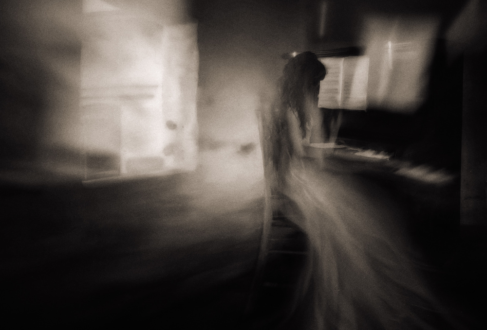 A piece of fine art art photography titled She Played for Him by Charlaine Gerber