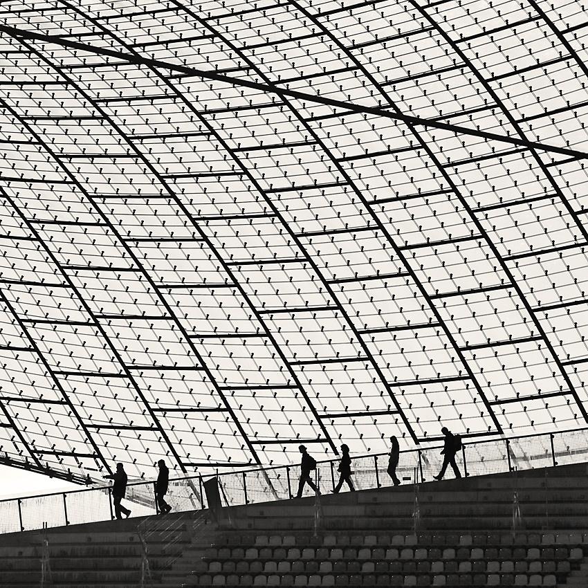A piece of fine art art photography titled Stadium Walk by Dirk Eidner
