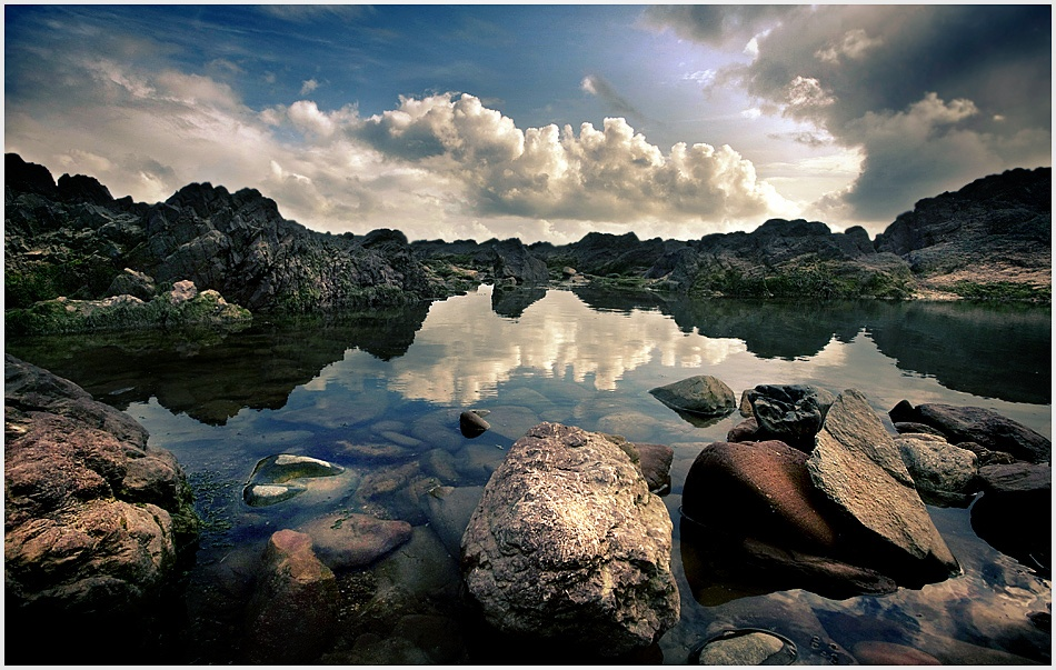 A piece of fine art art photography titled Rock Pool by Tim Johnstone