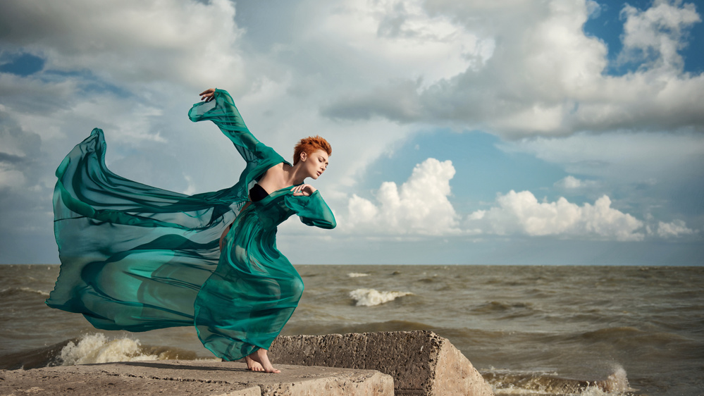 A piece of fine art art photography titled Dancing With the Wind by Anna