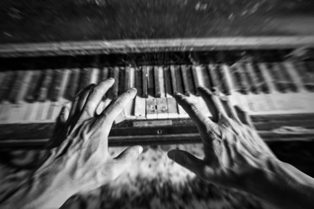 A piece of fine art art photography titled Haunted Music by Jean-Baptiste Barbier