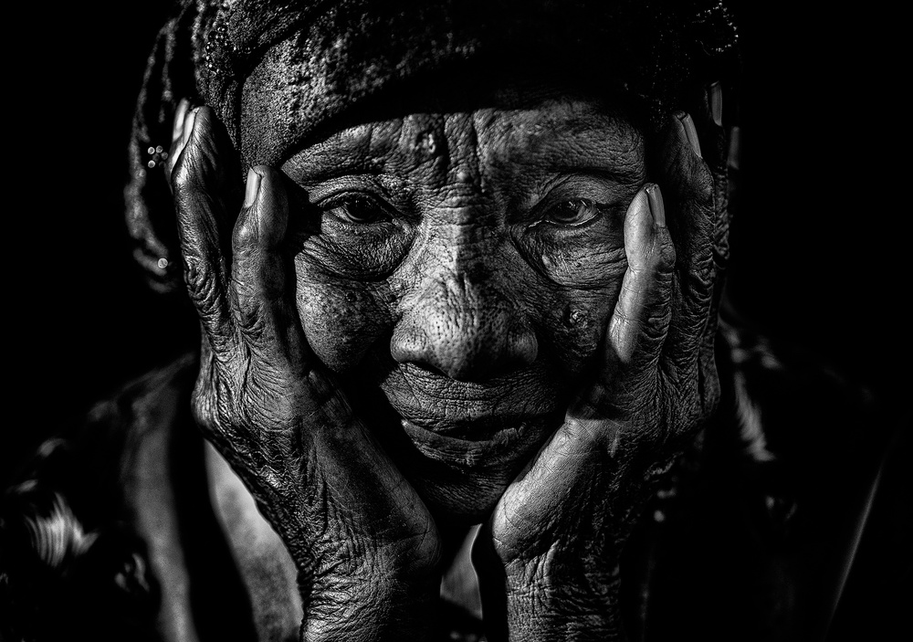 A piece of fine art art photography titled The Old Face by Andi Halil