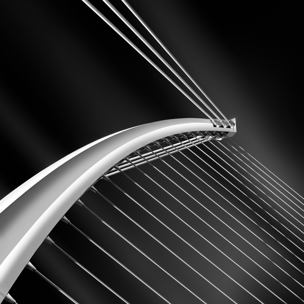A piece of fine art art photography titled Becketts Bridge by Barry Walsh