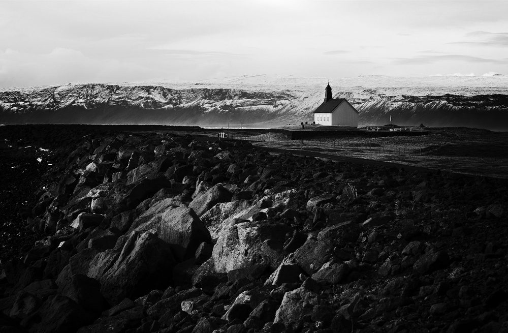 A piece of fine art art photography titled The Silver Church by Julien Oncete