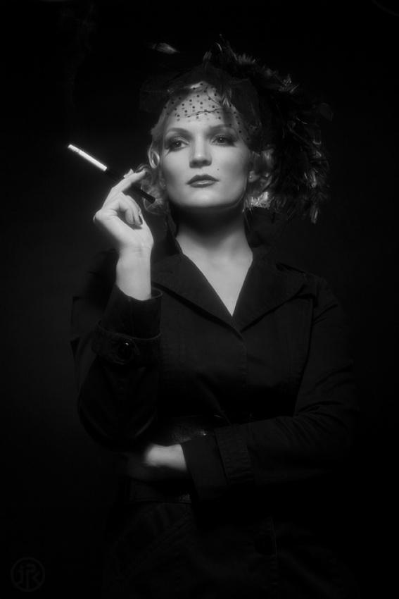 A piece of fine art art photography titled Black Widow by Jean-Paul Kowitz