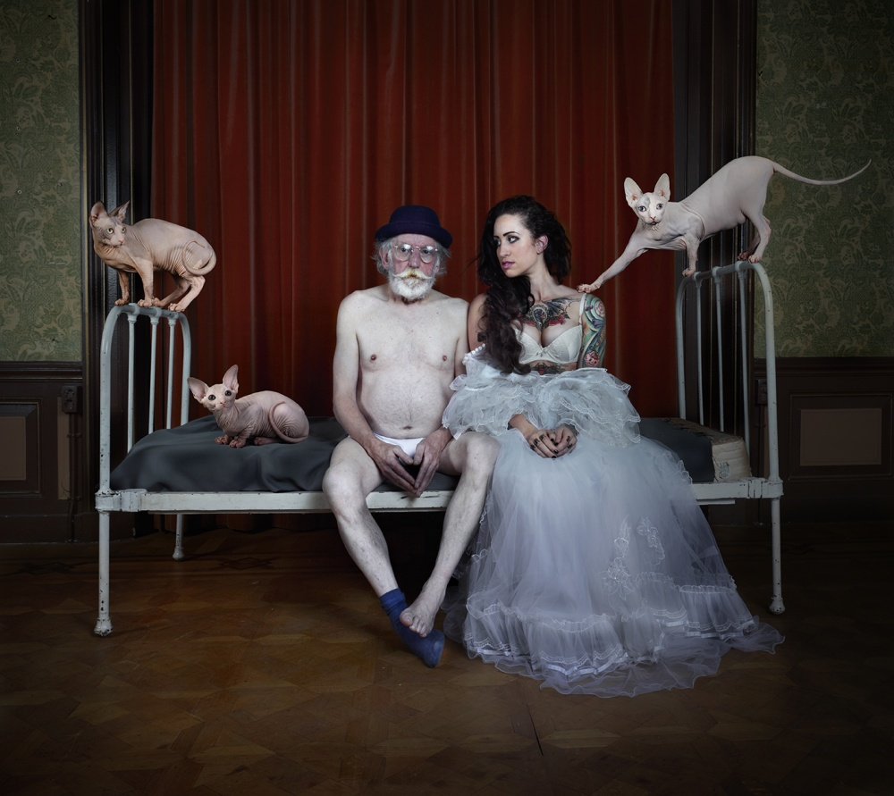 A piece of fine art art photography titled Terence & Cat by Patrizia Burra