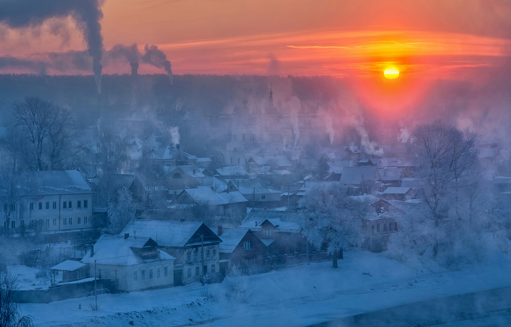 A piece of fine art art photography titled -33 C by Sergey Davydov