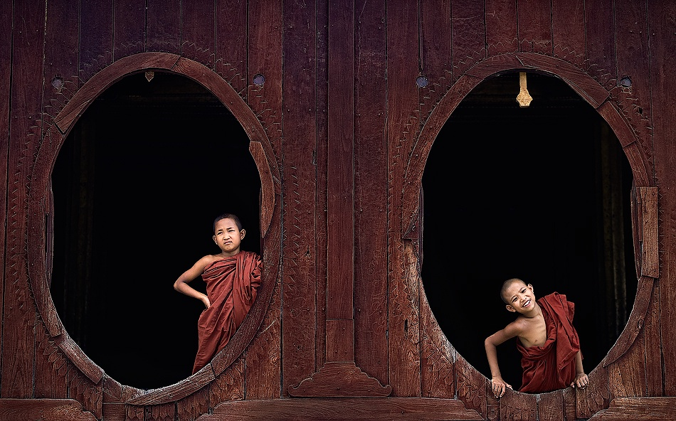 A piece of fine art art photography titled Shwe Yan Pyay Monastery by Gorka Nelson