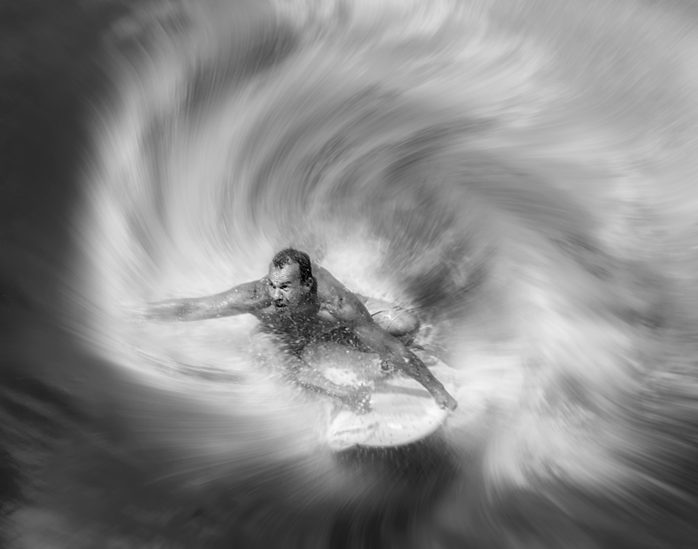 A piece of fine art art photography titled Out of Wave by Handi Nugraha