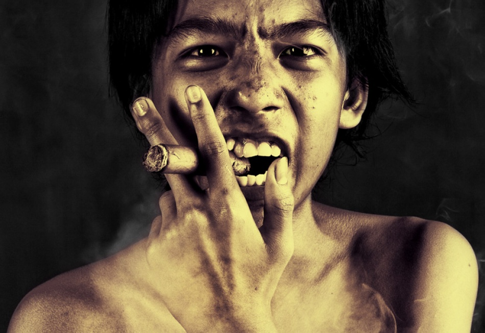 A piece of fine art art photography titled Bad Smoker by Thaib Chaidar