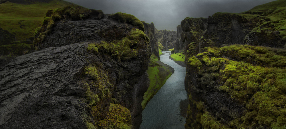 A piece of fine art art photography titled Canyon by Amador Funes