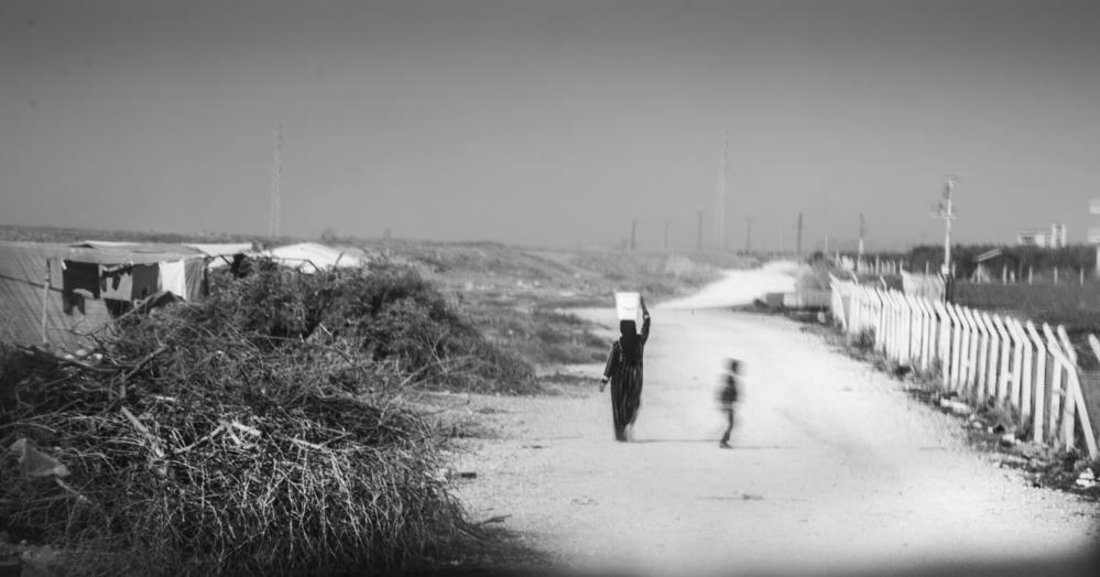 A piece of fine art art photography titled Refugee Camp by Hasgul Gökhan tasbas