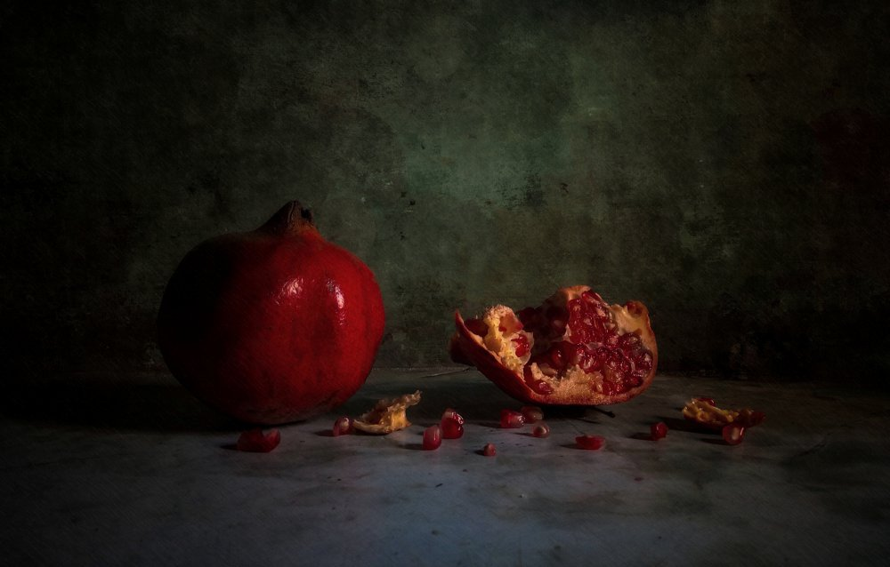 A piece of fine art art photography titled Pomegranate by Ahmed Idris