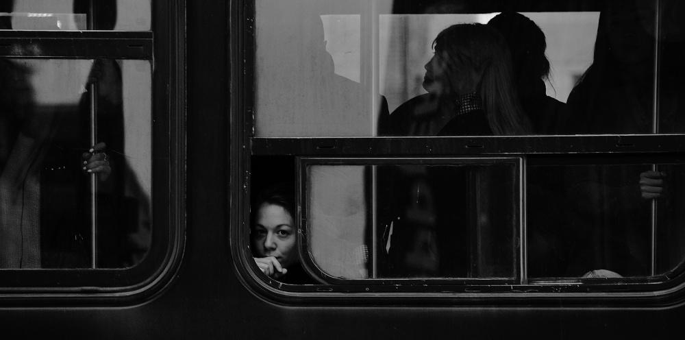 A piece of fine art art photography titled Passengers by Jian Wang