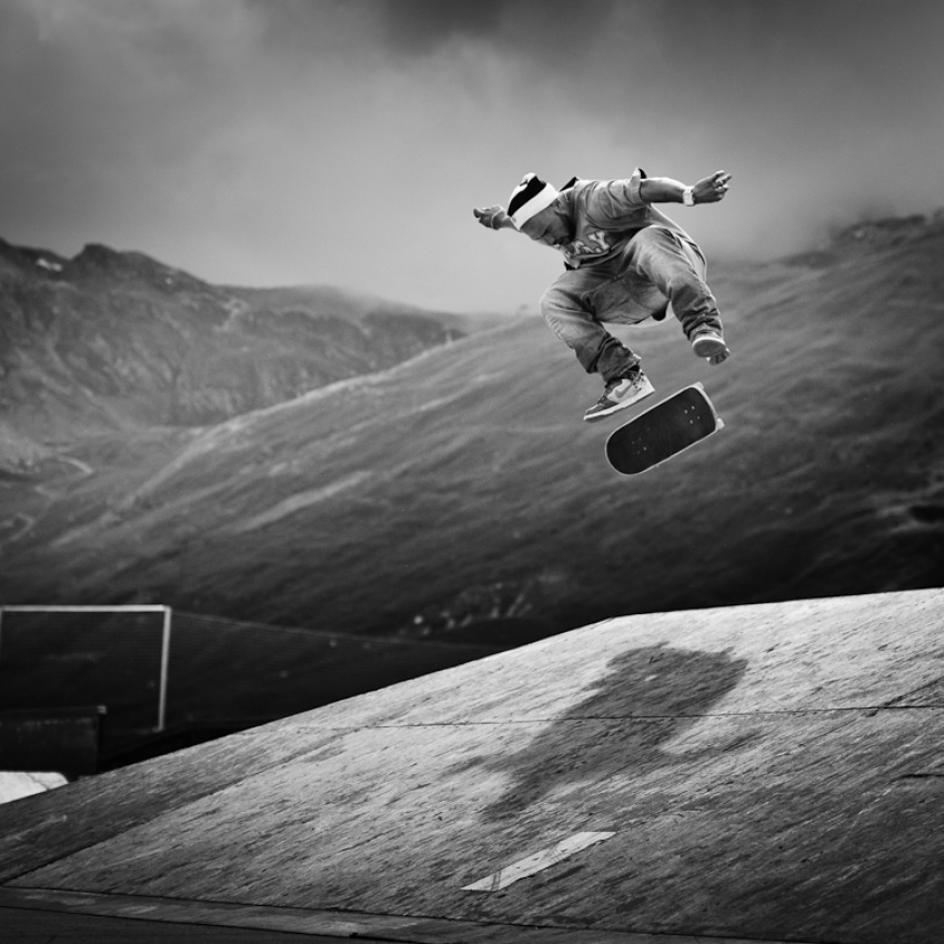 A piece of fine art art photography titled Sk8 Transfer by Andy PARANT