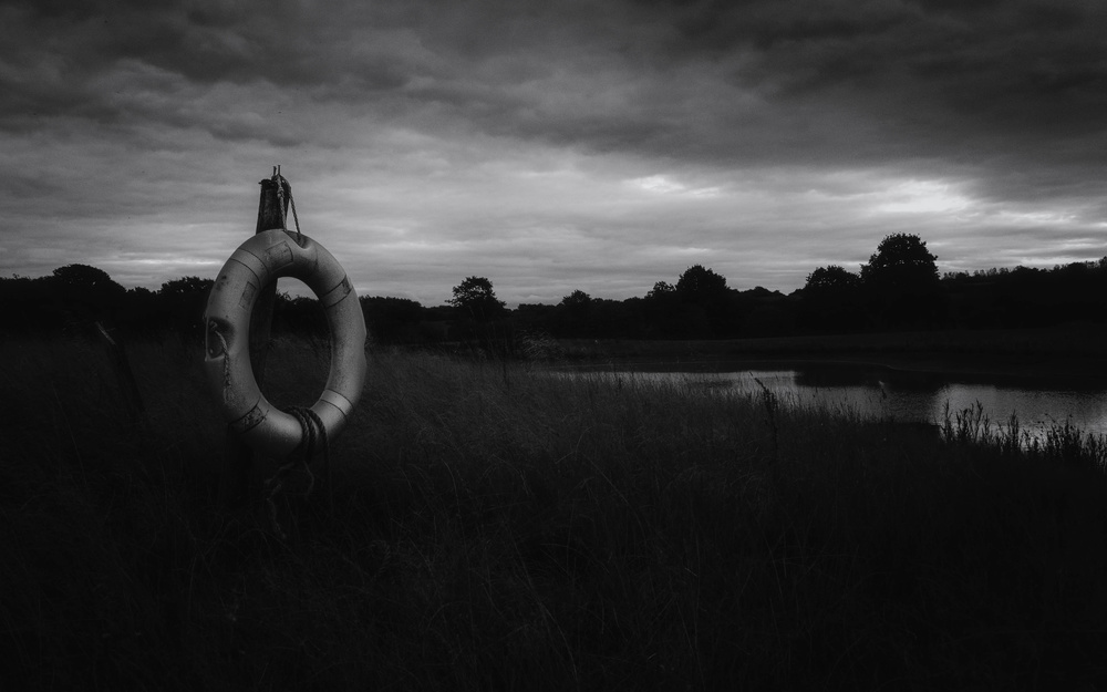 A piece of fine art art photography titled The Lifebuoy by Phil Tooze