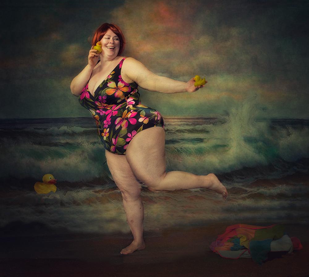 A piece of fine art art photography titled Beacjh Fun by Peter Kemp