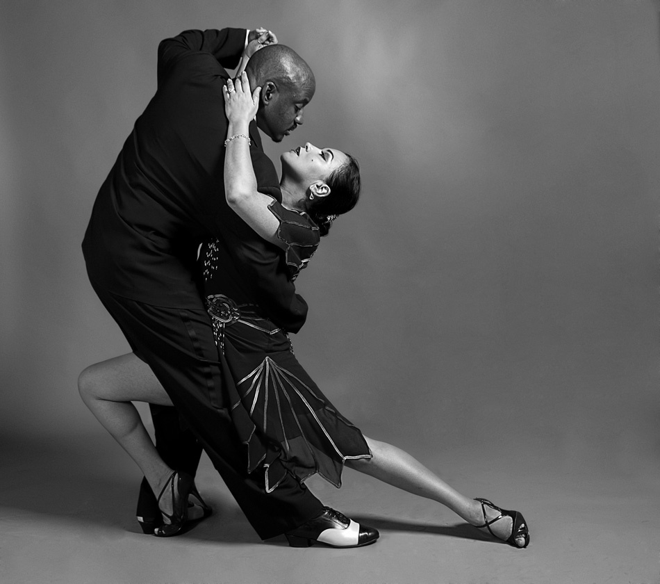 A piece of fine art art photography titled Tango In Black and White by Lev Tsimring