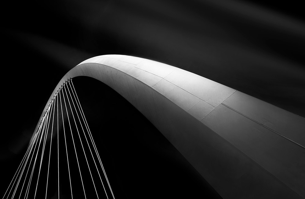 A piece of fine art art photography titled Canal Bridge by Ahmad Kaddourah