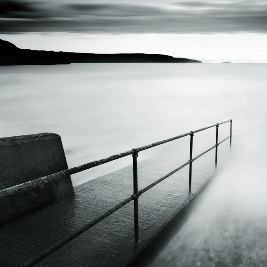 A piece of fine art art photography titled Broad Haven Dawn by David Baker