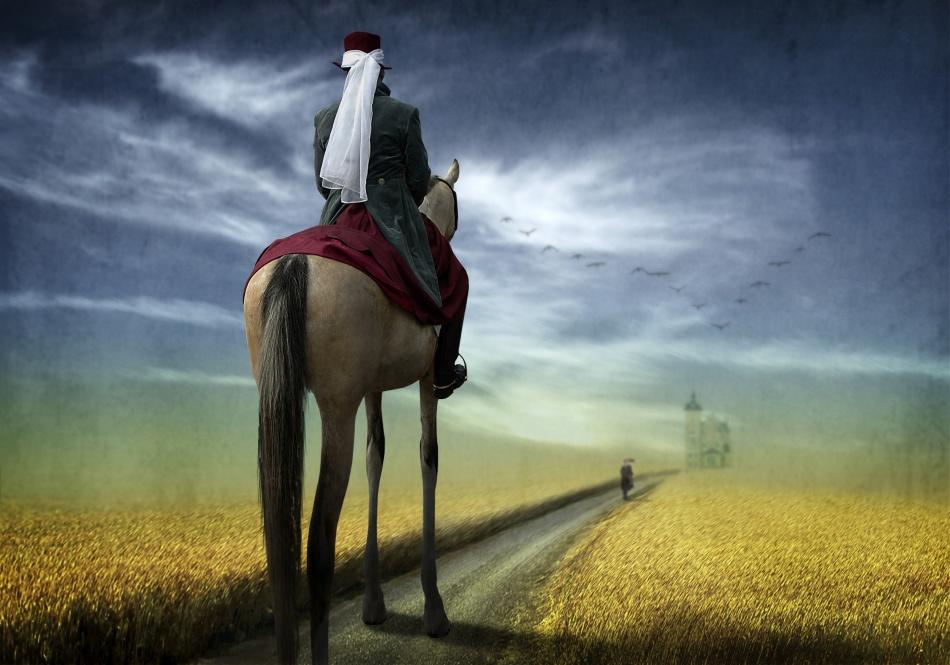 A piece of fine art art photography titled Her VERY Highness Returns Back Home by Ben Goossens