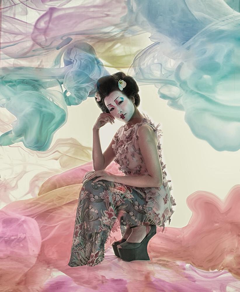 A piece of fine art art photography titled Geisha by Peter Kemp