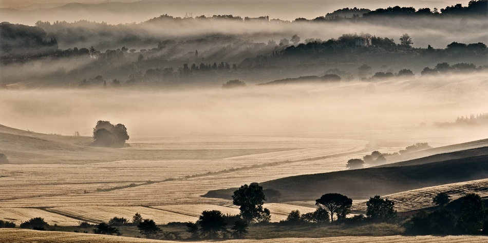 A piece of fine art art photography titled Tuscany In the Fog by andrea lorenzetti