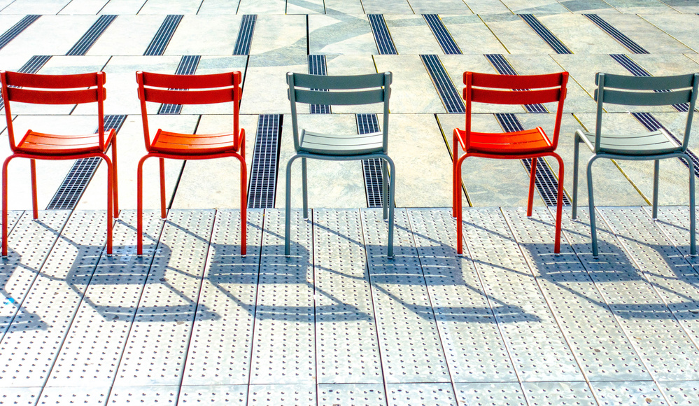 A piece of fine art art photography titled Chairs by Jef Flour