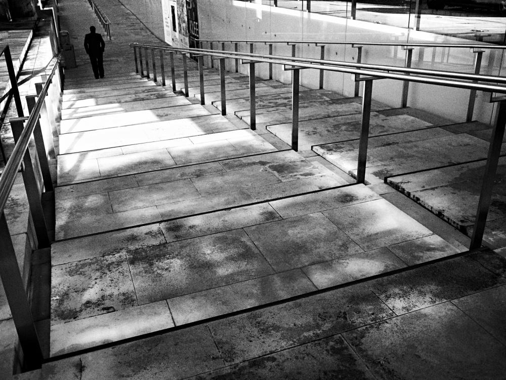 A piece of fine art art photography titled Daylight Noir / Leaving by Lara Kantardjian