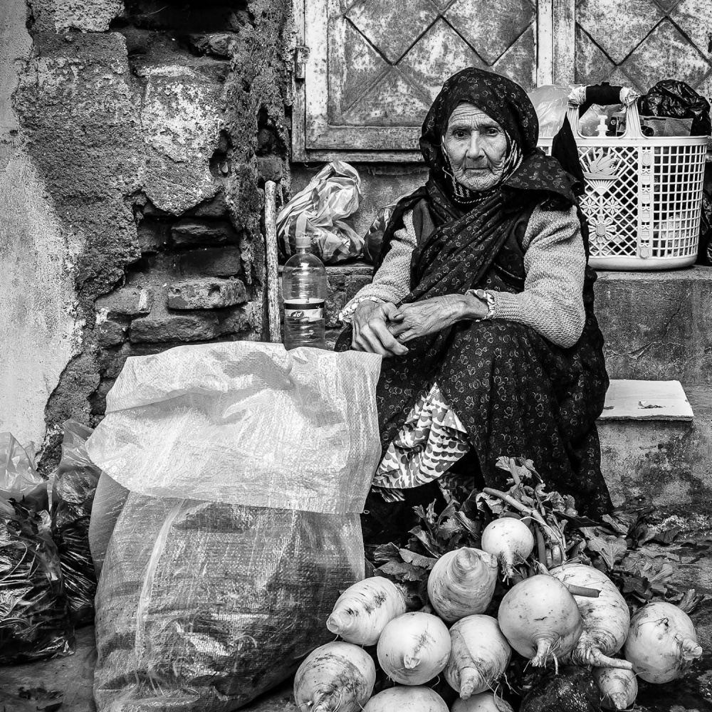 A piece of fine art art photography titled Old Woman by mehran moradi