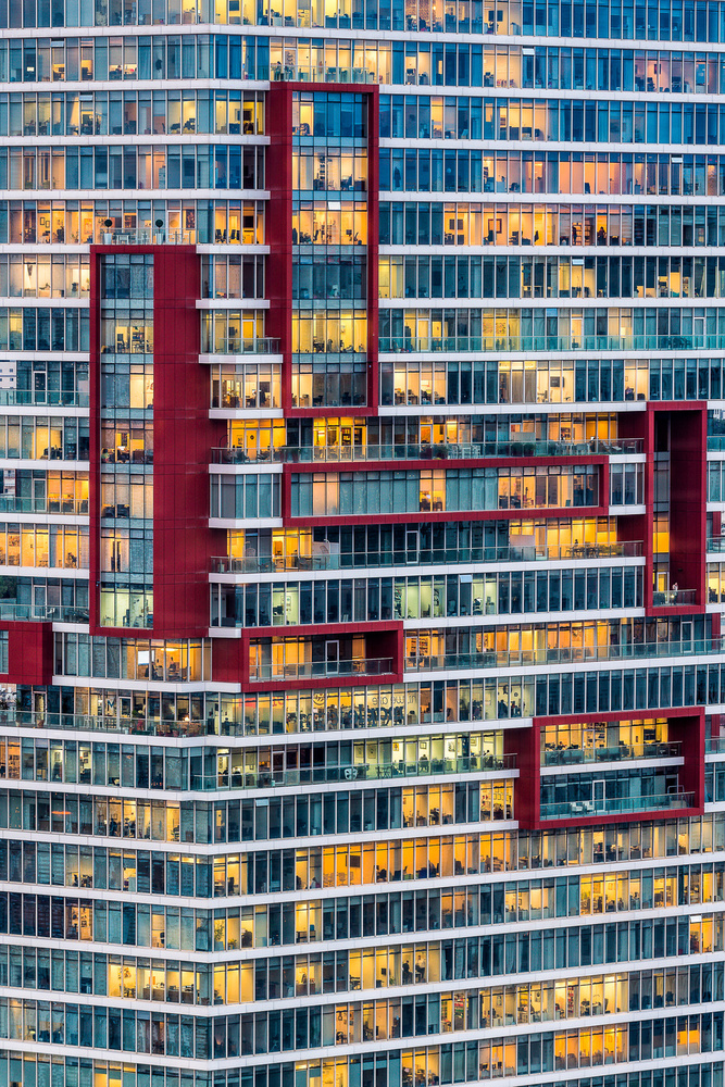 A piece of fine art art photography titled Office Building by Tzvika Stein