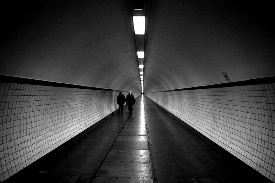 A piece of fine art art photography titled Tunnel Vision by Chantal Heusschen