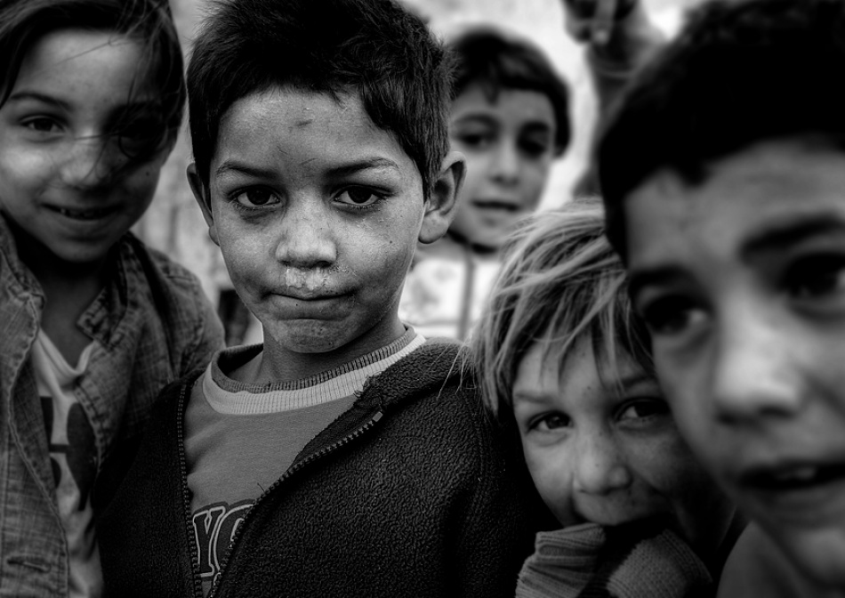 A piece of fine art art photography titled Gipsy Kids by jose ferreira